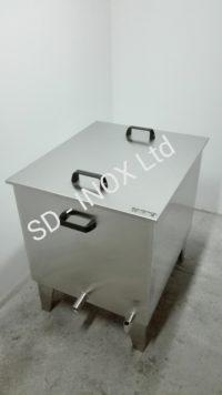 Восъкотопилка на газ от неръждаема стомана AISI 304
