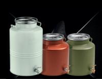 Неръждаем цветен гюм с капак 15 литра